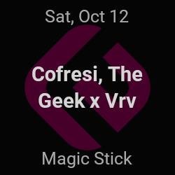 Cofresi, The Geek x Vrv – Detroit – Oct 12 | edmtrain